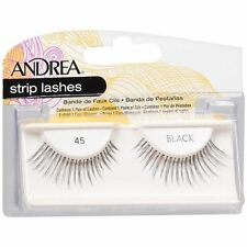 10 Pairs Andrea Modlash 45 False Eyelashes Strip Lashes Black 24510