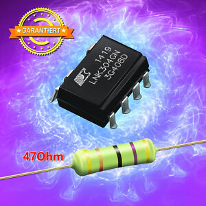 IC LNK304GN +1 Widerstand 47 Ohm 3 Watt - Reparaturset AEG, Whirlpool, Bauknecht