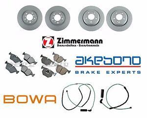 For BMW E46 M3 01-06 Complete Front Rear Brake Kit Rotors Pads Sensors OEM
