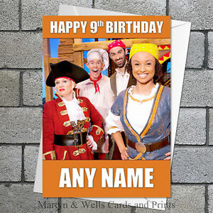 Swashbuckle birthday card. 5x7 inches. Personalised plus envelope. Cook and Line