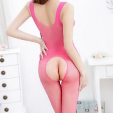 Plus Size XL 2XL Sexy Lingerie Bodystocking Babydoll Dress Mesh Nighty Bodysuit