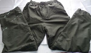 Flannel Lined Pants Trousers Boy Youth Teen Sz 16/18 CARGO Pockets Green