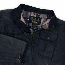 Women's Barbour Utility Jacket Black Casual Waxed Cotton JKT - UK 20 US 16 EU 46