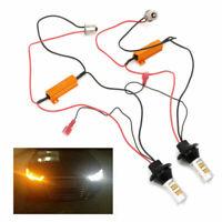 2pc LED BAU15S 50W Signal Light 2835 Switchback Dual-Color DRL Kit 42LED Turn