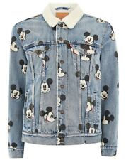 Levi's Mens X Mickey Mouse Denim Sherpa Trucker Jacket - L -