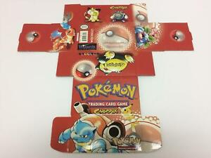 Vintage Pokemon WOTC Card Box 1999 / Charizard, Venusaur, Blastoise, Pikachu