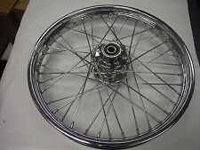 "HARLEY DAVIDSONS 21"" CHROME LACED FRONT WHEEL SINGLE CALIPER '00-'05 SOFTAIL"