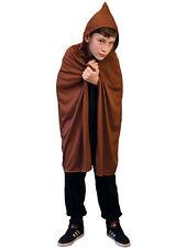 Brown Hooded 76cm Cape Halloween Fancy Dress Medieval Archer Robin Hood