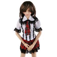 289# Red & Black Lace Plaid Clothes Dress/Suit/Outfit MSD DOD 1/4 BJD Dollfie