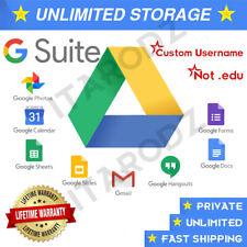 Gsuite Google Drive Unlimited Google Photos, Cloud, YOUR USERNAME + Lifetime