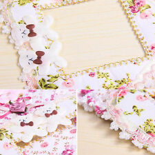 Cute 2pcs Pastoral Lace Fabric Switch Stickers Wall Stickers Switch Cover Dust