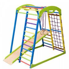 Sport Indoor Wooden Playground for Kids Indoor Gym Sets Up