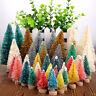 40Pcs Mini Sisal Christmas Tree Bottle Brush Snow Frost Xmas Ornament Decoration