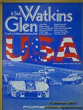 1977 Porsche Watkins Glenn 935 / 934  Genuine Factory Poster Original