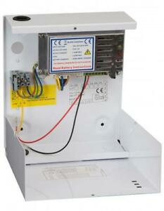 RGL 1201-SM112vdc 1 amp boxed power supply, PSU, access control, door entry