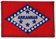 Arkansas 3.5 State Flag inch Embroidered Hat Shoulder Patch F3D9A