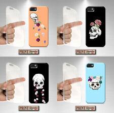 Cover For LG,OPPO ,Skull,Flowers,Silicone,Soft,Roses,Dark,Horror,Hipster