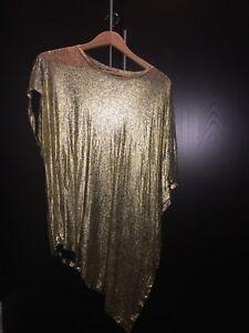 Unconditional Gold Asymmetrical Shirt Short Sleeve