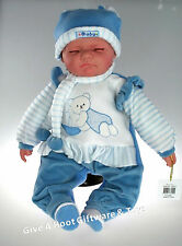 HARRISON - Realistic Sleeping Eyes Closed Baby Doll 51cm Tamarr Dolls Gift Boxed