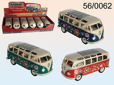 OFFICIAL KINSMART LOVE BUG VW CLASSICAL BUS 1962 DIECAST CAR LARGE CHUNKY 17.5CM