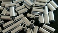 100X ALUMINIUM CRIMPS monofilament fishing line or wire traces