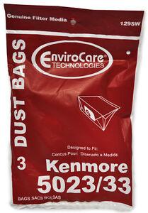 Kenmore 5023/33 Vacuum Dust Bags 129SW 3 Pack
