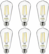 Dimmable Vintage LED Edison Bulbs 60 Watt Dimmable, Daylight White 4000K