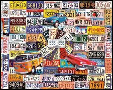 White Mountain Puzzles License Plates - 1000 Piece Jigsaw Puzzle , New, Free Shi