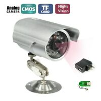 CCTV Bullet Outdoor Waterproof DVR USB Camera 600TVL IR Security TF/SD Recorder
