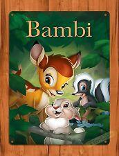 "Walt Disney ""Bambi"" Movie Vintage Art Ride Poster Tin Sign"