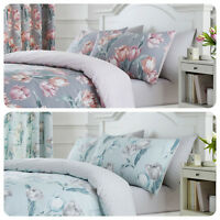 Dreams & Drapes TULIP Floral & Geometric Reverse Pencil Pleat Curtains & Bedding