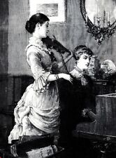 B&W Reproduction Drawing - A Front Parlour Duet