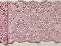 """/""""/""""Laces Galore/""""/""""Vintage Duck Egg Aqua Soft Stretch French Lace 17cm Table Runner"""