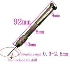 Z-N-HO Model Railroader's Alum Mini Manual Hand Twist Mini Drill w/2-Chucks NIB