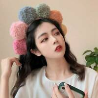 Women's Flower Shape Hairband Headband Plush Hair Band Hoop Cute Accessories #
