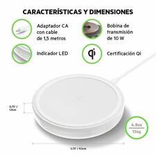 Base Carga Inalambrica Movil Qi 10W Smartphones Qi Boost Up Blanco EMBALAJE A...