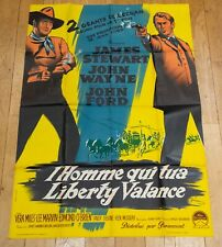 L'HOMME QUI TUA LIBERTY VALANCE Affiche film 120x160 John Ford, JOHN WAYNE