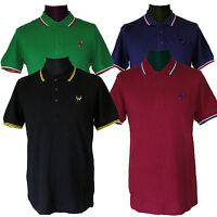 Warrior UK England Slim Fit Soul 45 Polo Shirt Hemd Black Blue Oxblood Green