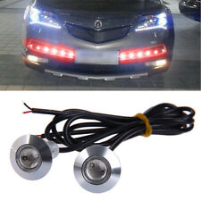 1 Pair 23mm Eagle Eye LED Daytime Running DRL Light Car Auto Lamp Red DC 12V