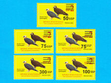 South Sudan 2017 Scott Nh 15-19 Surcharges on 2 Ssp Birds - Free Usa Shipping