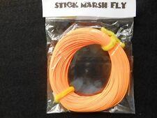 STICK MARSH FLY LINE WF-7-F  WITH EXPOSED LOOP ON LEADER END -- ORANGE