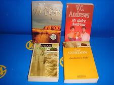 Lote de libros 4 libros novela romantica-Barbara Wood-V.C Andrews-Noah Gordon