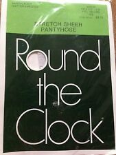 Exciting! VintageRound the clock ice white pantyhose stockings size b