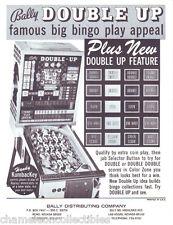 Bally DOUBLE UP Original 1971 NOS Bingo Arcade Game Pinball Machine Sales Flyer
