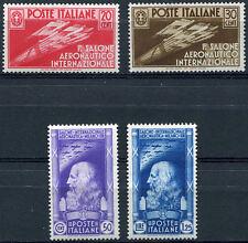1935 I Salone Aeronautico Internazionale- 4 valori Nuovi MH Regno S81