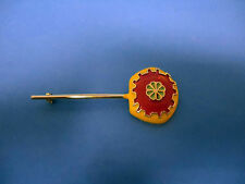 ZENTALL ENAMELED BROOCH, HAT OR SCARF PIN