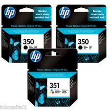 3 x HP 2 x N.350 schwarz & 1 x N.351 Farbe Tinte Original OEM Inkjet Patronen