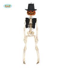 Petit Pendant citrouille squelette 40 cm CHAPEAU HAUT-DE-FORME fête halloween