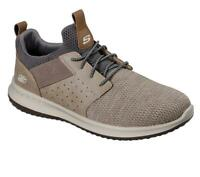 Skechers Homme Extra Coupe Large (4E) Delson Camben Chaussure en Taupe