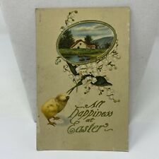 Vintage Postcard Happiness At Easter 1914 Card Antique Greensburg Pennsylvania